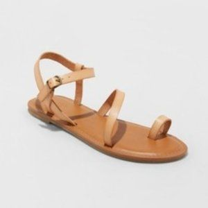 Tera Ankle Strap Sandals Tan